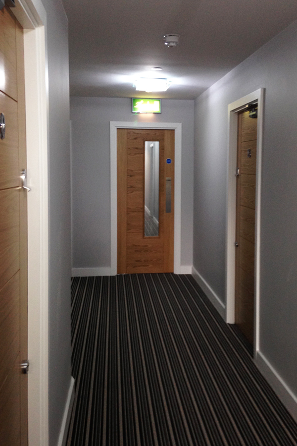 Door fitted in Ancoats Manchester by Coulsy Joinery Contractors