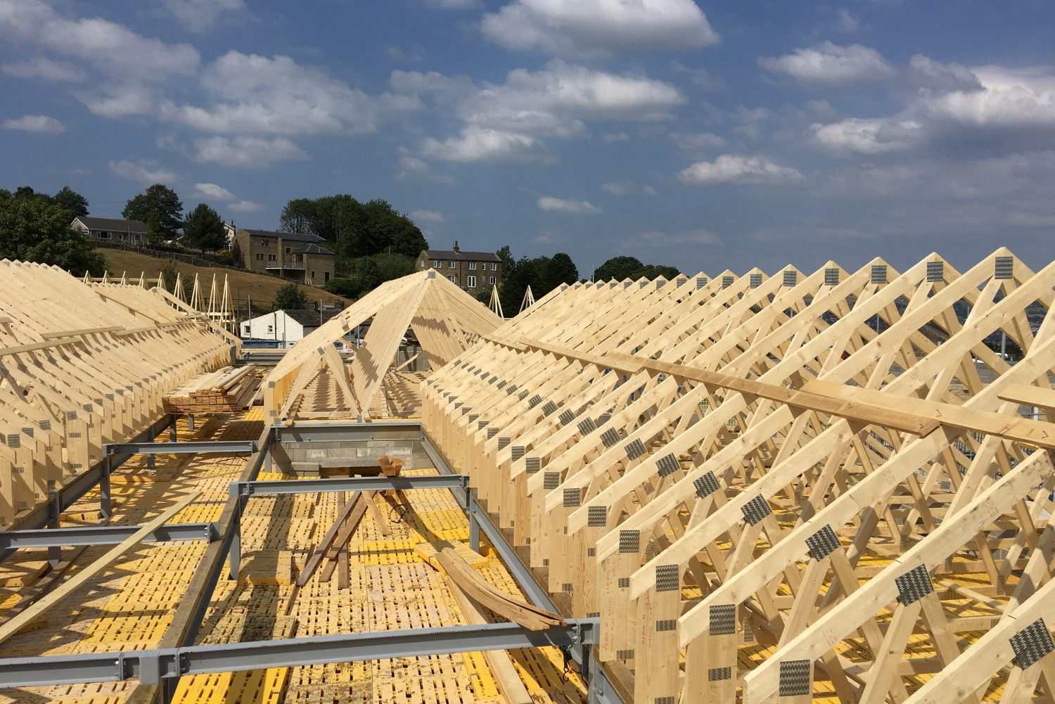 Structural Joinery – Truss Roof Installation