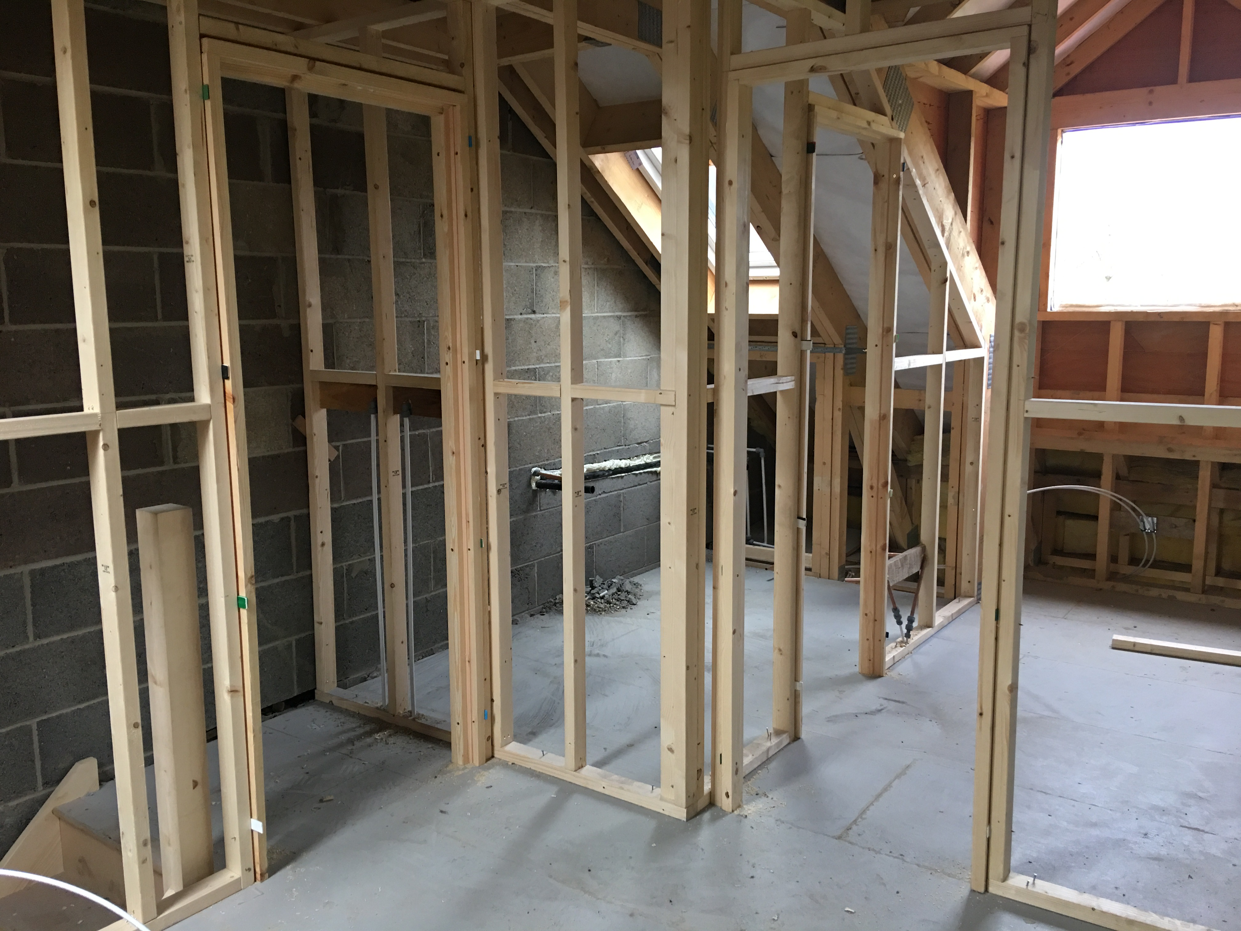Stud wall partitioning
