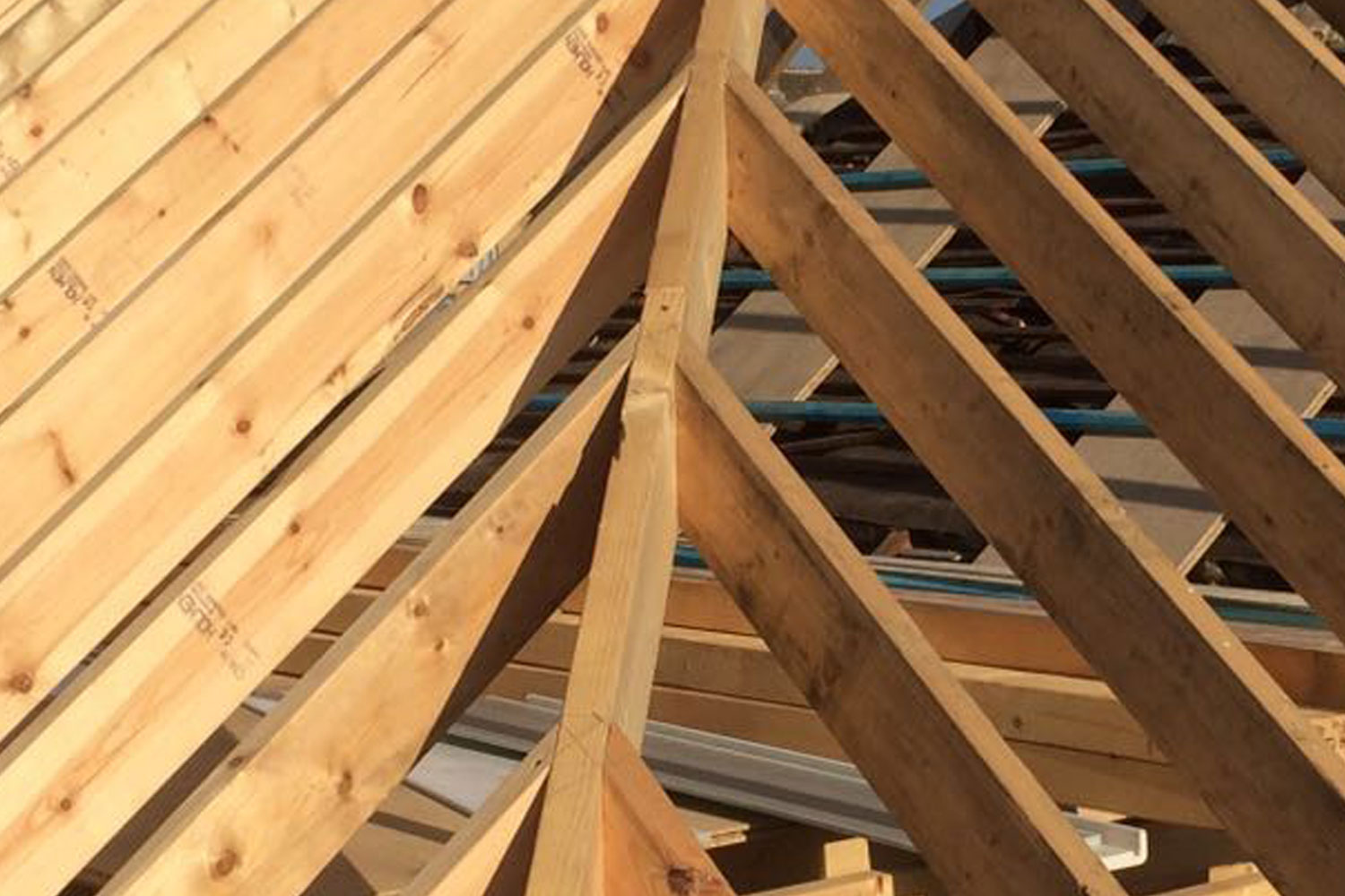 Traditional Cut Hip Roof Carpentry