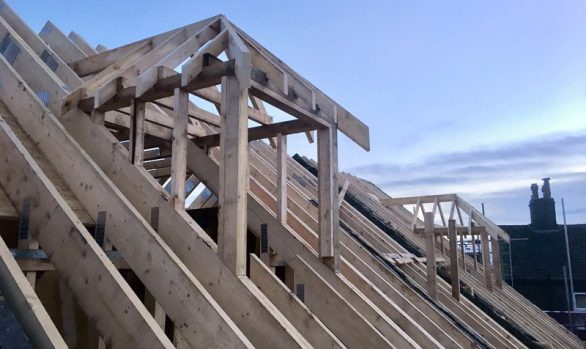 Dormer Roofs being created In Halifax by our Carpenters & Joiners
