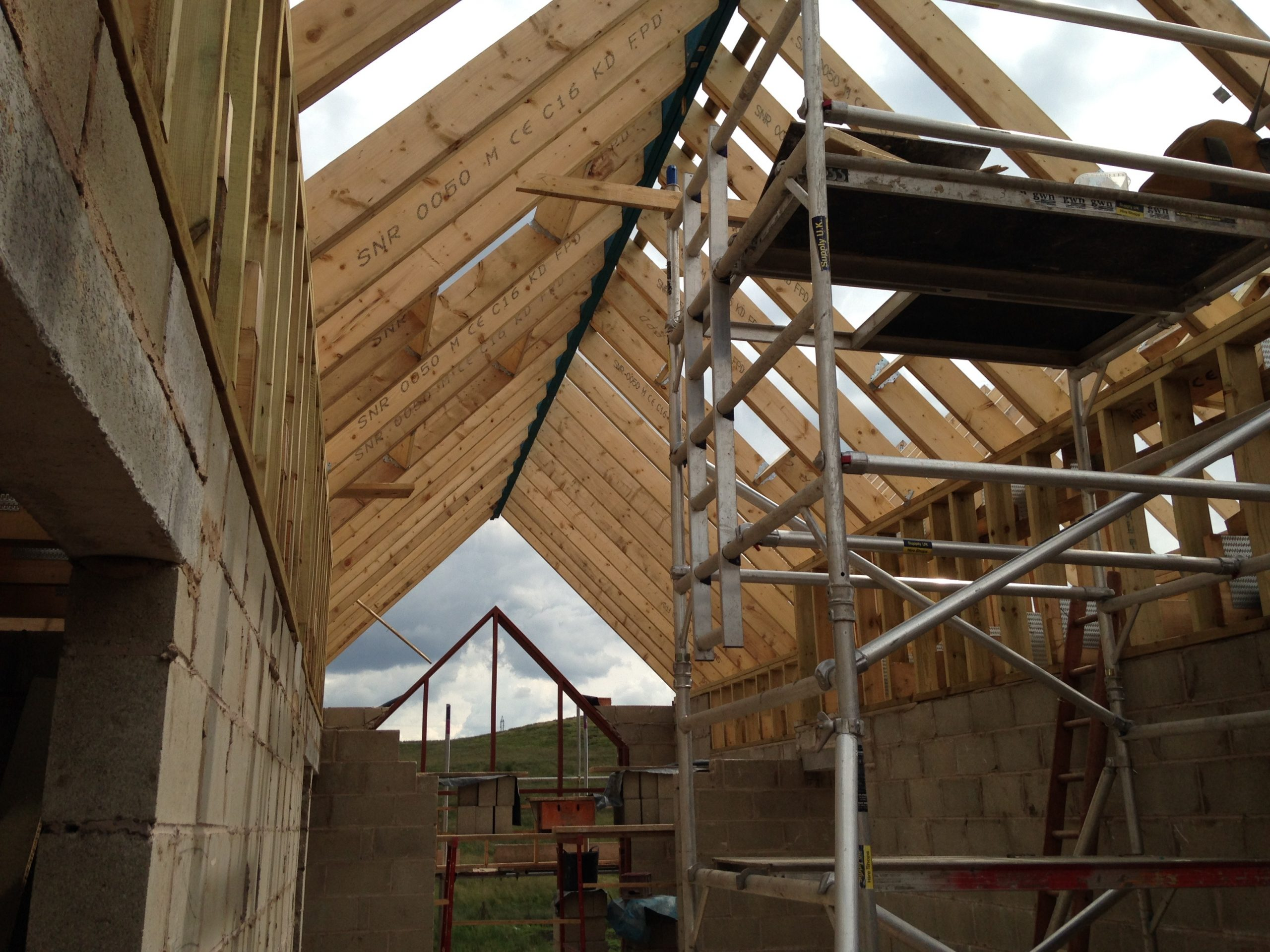 Traditional cut roof